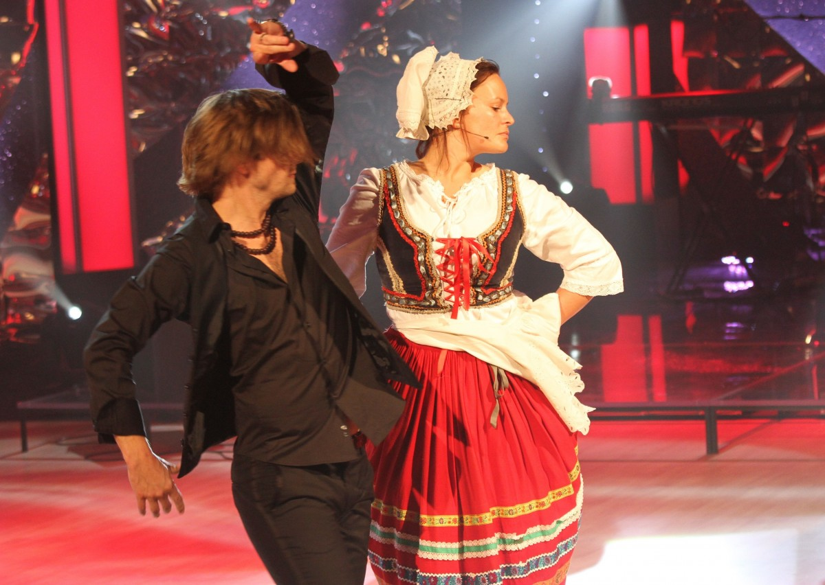 Manželé Petr Čadek a Jitka Čvančarová předvedli vskutku vášnivý tanec.
