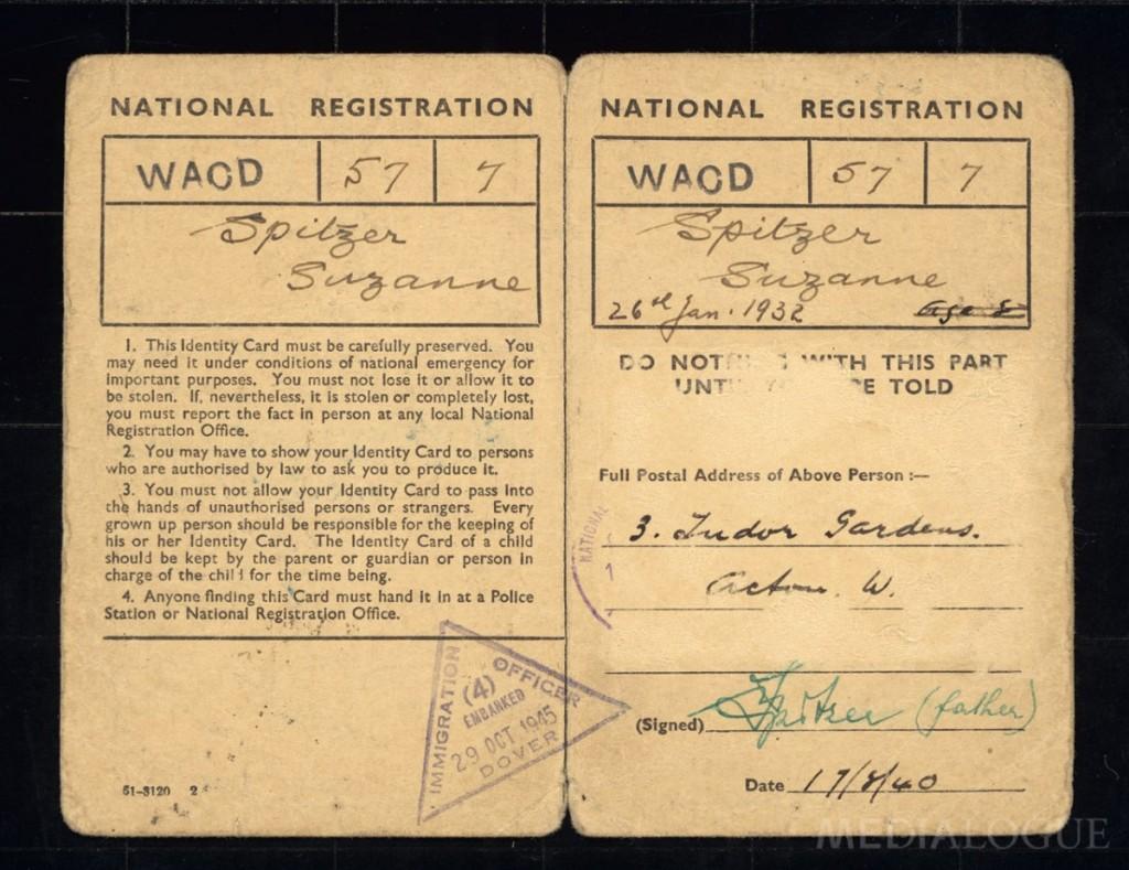 Identifikační karta pro pobyt vAnglii-Zuzana Marešová